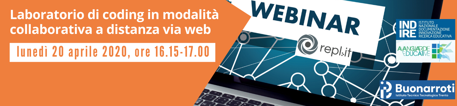 LABORATORIO DI CODING IN MODALITA' COLLABORATIVA A DISTANZA VIA WEB